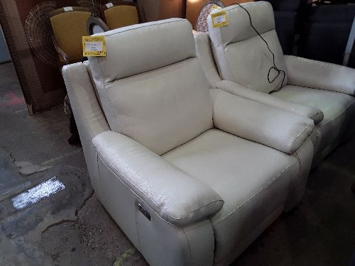 FAUTEUIL RELAX ELECT CUIR BLANC POLTRONESOFA