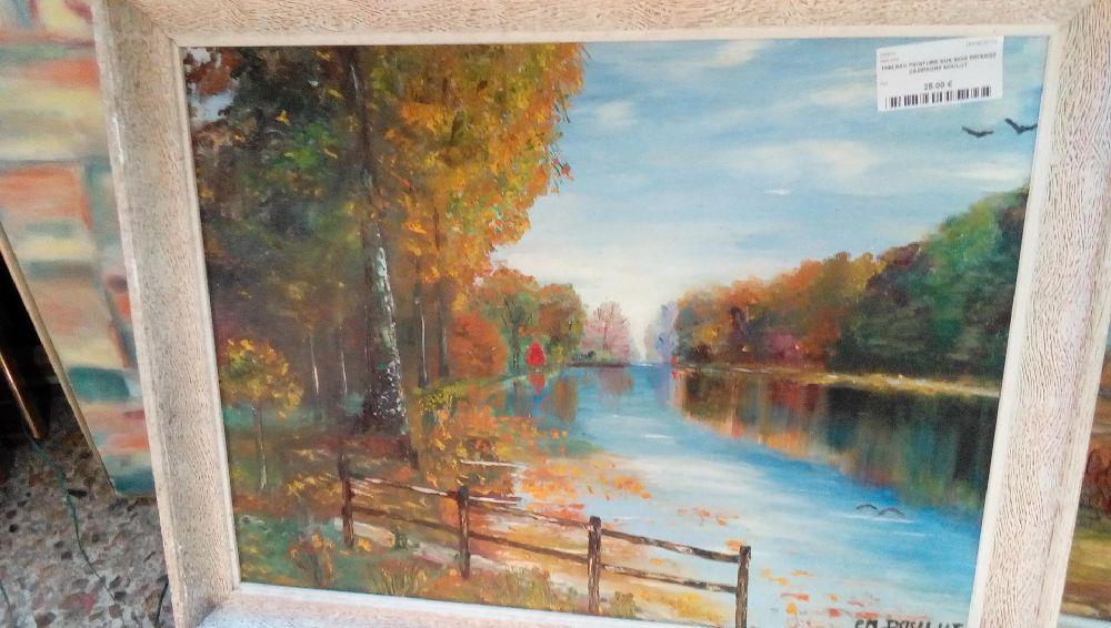 Tableau Peinture Sur Bois Paysage Campagne Doulut Occasion Troc De