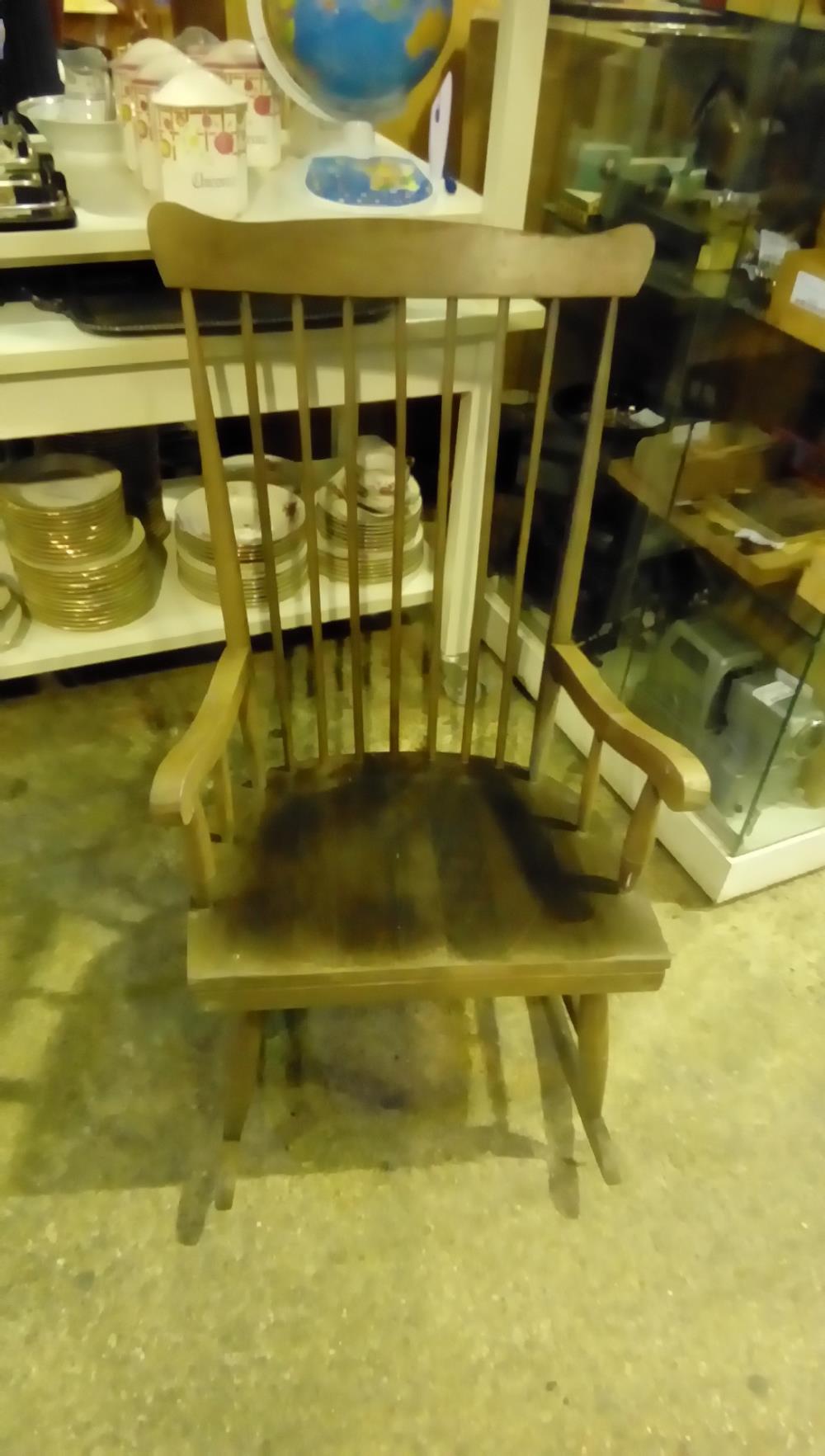 Rocking Chair Bois A Revoir Occasion Troc De France