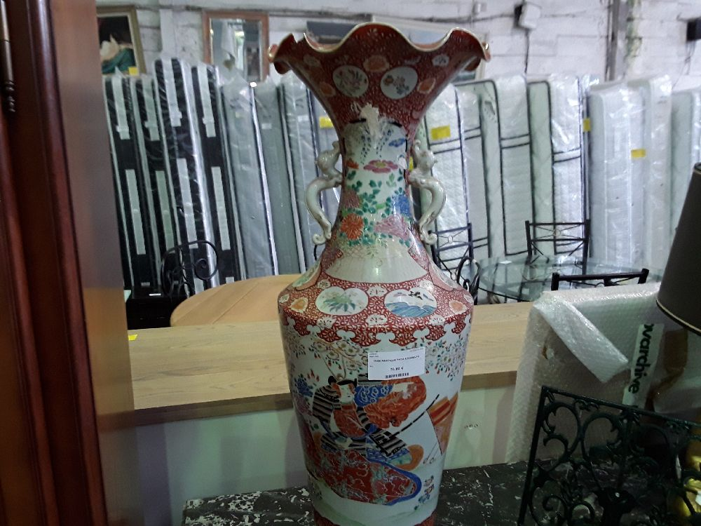 VASE ASIATIQUE 74CM ACCIDENTE