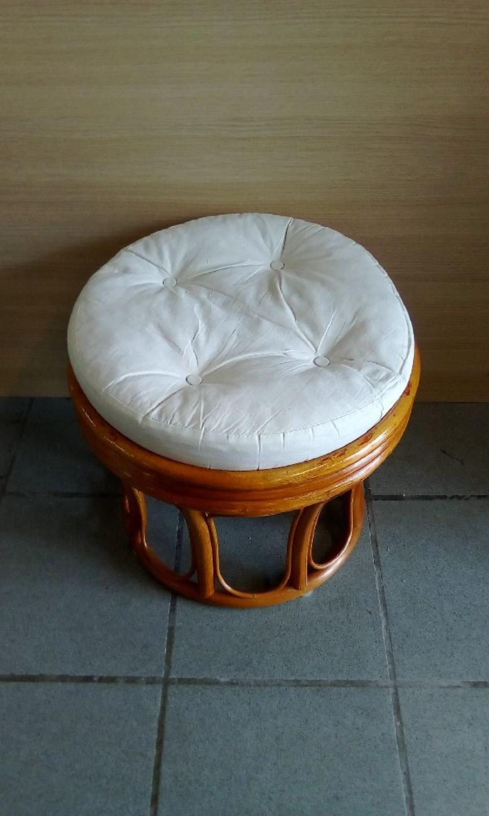 POUF ROTIN occasion - Troc Bourges