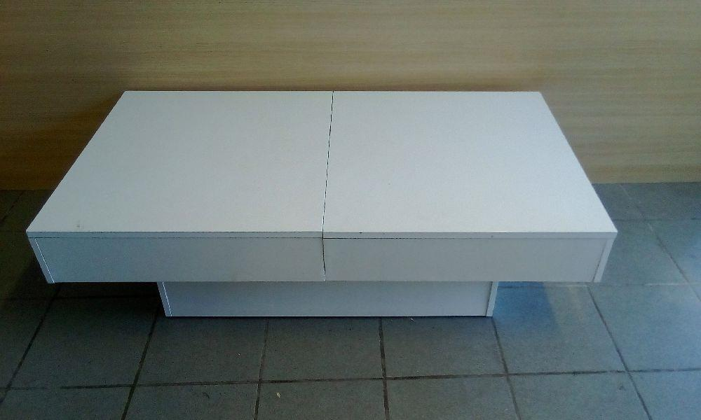 TABLE BASSE BAR BLANC LAQUE occasion - Troc Bourges