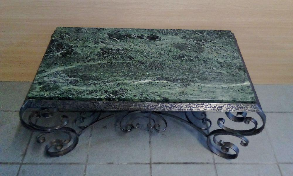 Table Basse Dessus Marbre Fer Forge Occasion Troc Bourges
