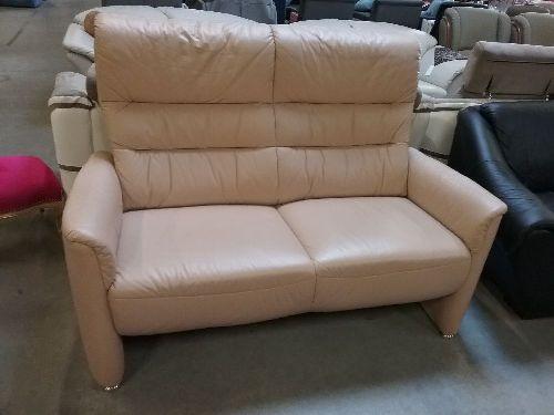 canape cuir beige 2 places 155 cm occasion eco cash. Black Bedroom Furniture Sets. Home Design Ideas