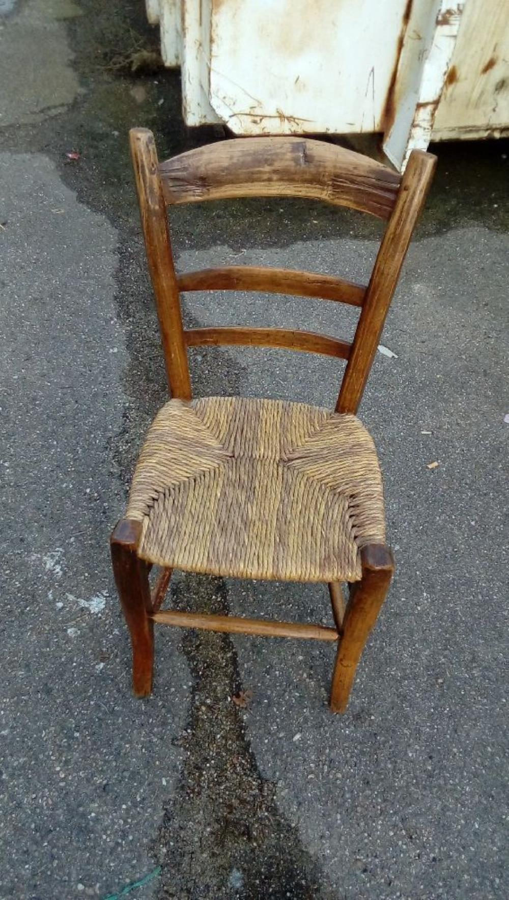 CHAISE PAILLE ANCIENNE Occasion