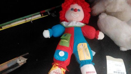 PELUCHE CLOWN APPRENTISSAGE