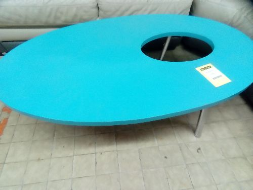 TABLE BASSE BLEUE