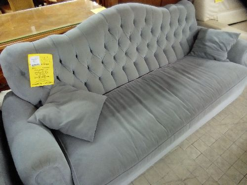 BANQUETTE CHESTER TISSUS GRIS