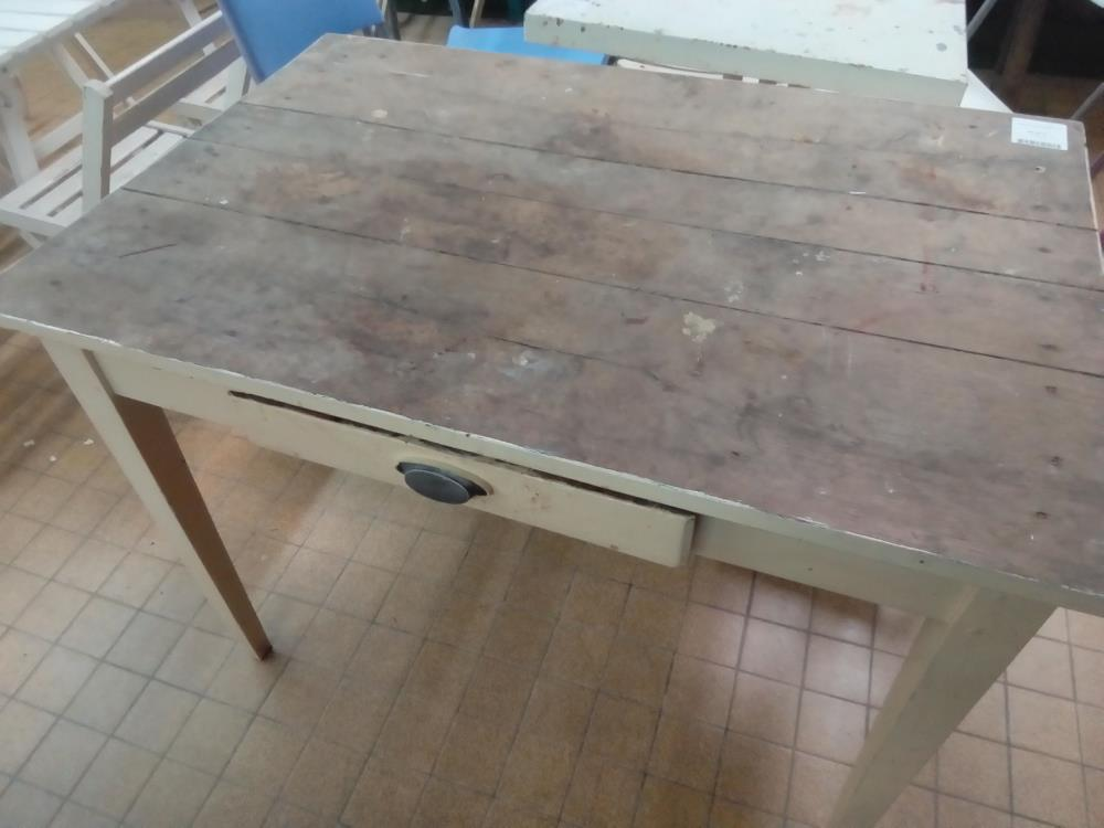 TABLE PIED BLANC 1T