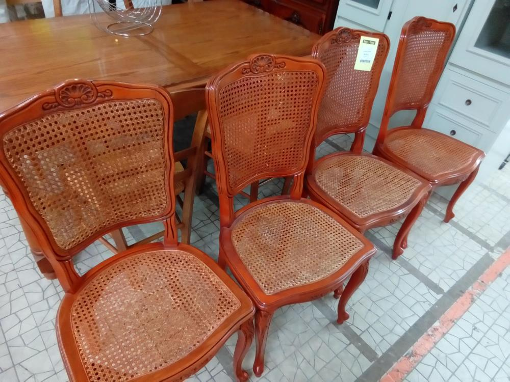 4 CHAISES CANNEES