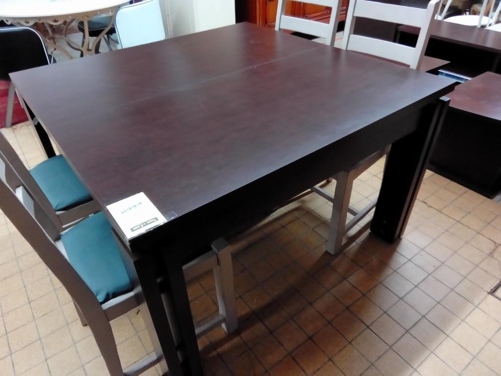 TABLE CARREE WENGE + 1ALL