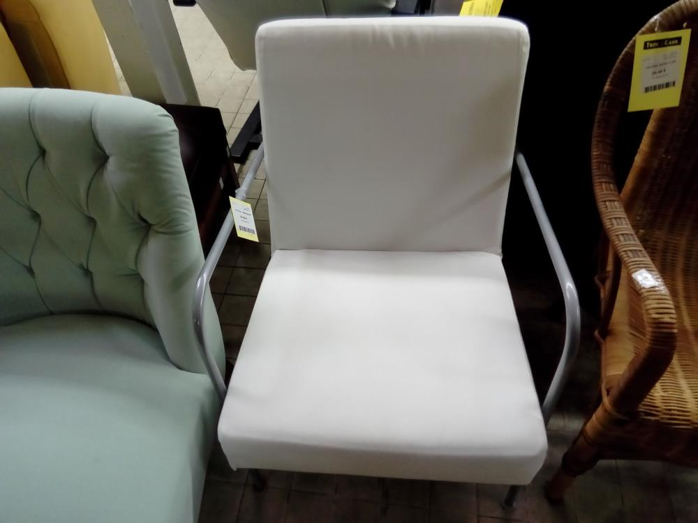 FAUTEUIL TISSUS BLANC