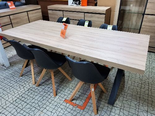 TABLE TF1805 MARNIX 230CM JAMBE X FRENCH OAK