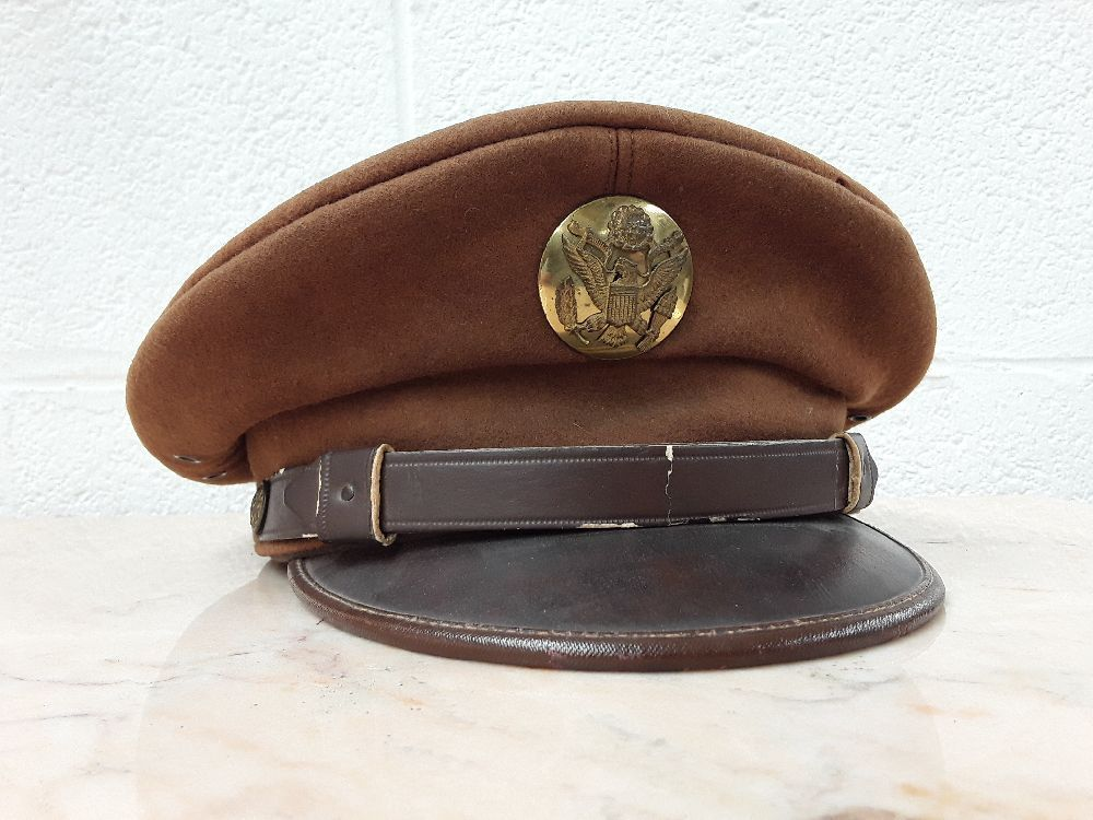 KÉPI CHOCOLAT SOUS OFFICIER US PILOTE WW2