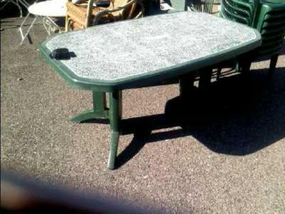 Table De Jardin Verte Grosfillex