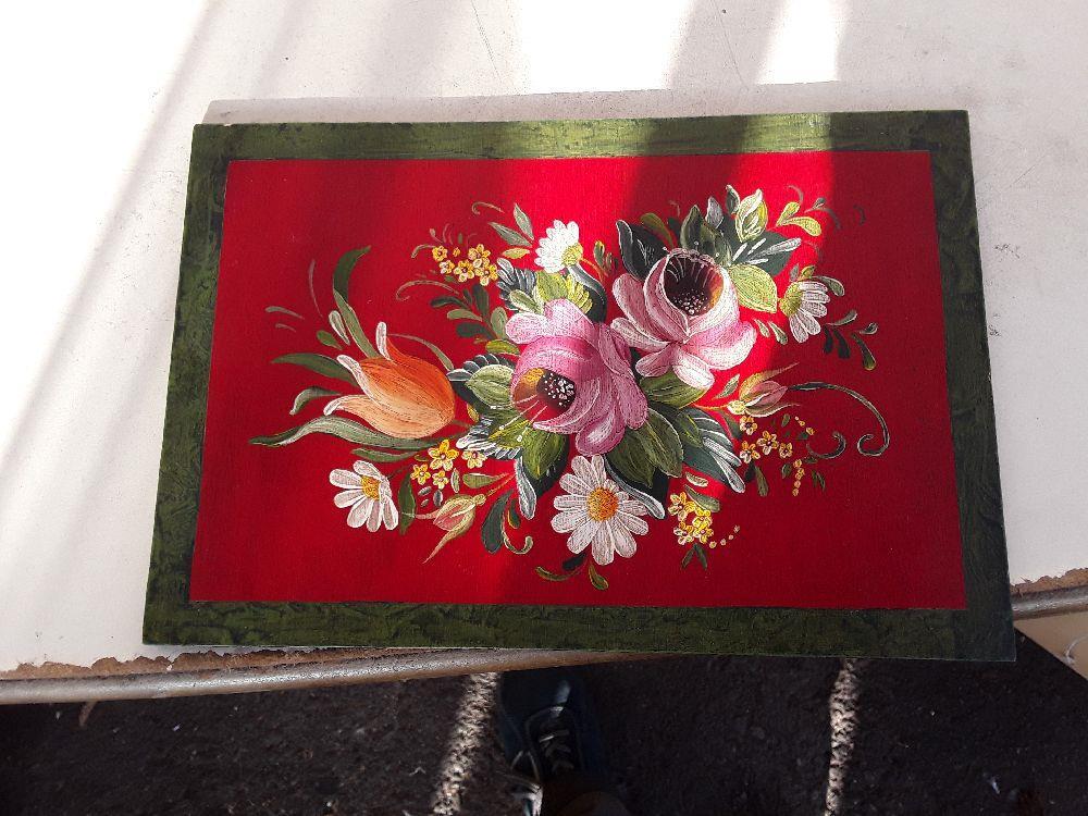 Peinture Sur Bois Fleur Style Nature Morte Occasion Troc Annecy