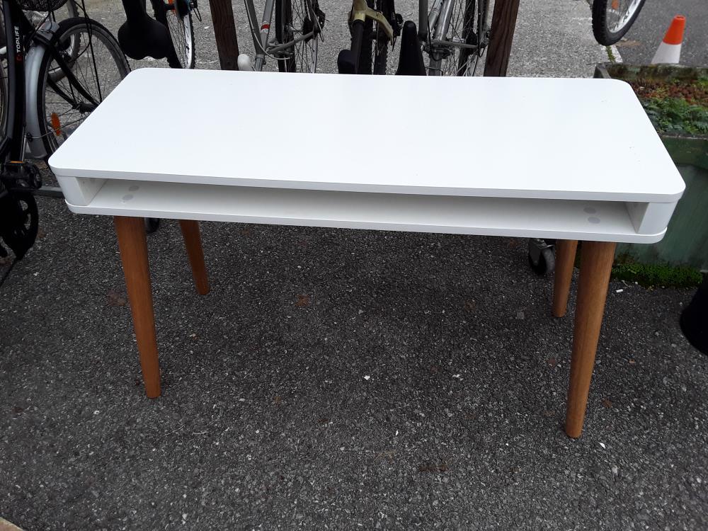 Bureau moderne design blanc bois niche occasion troc annecy