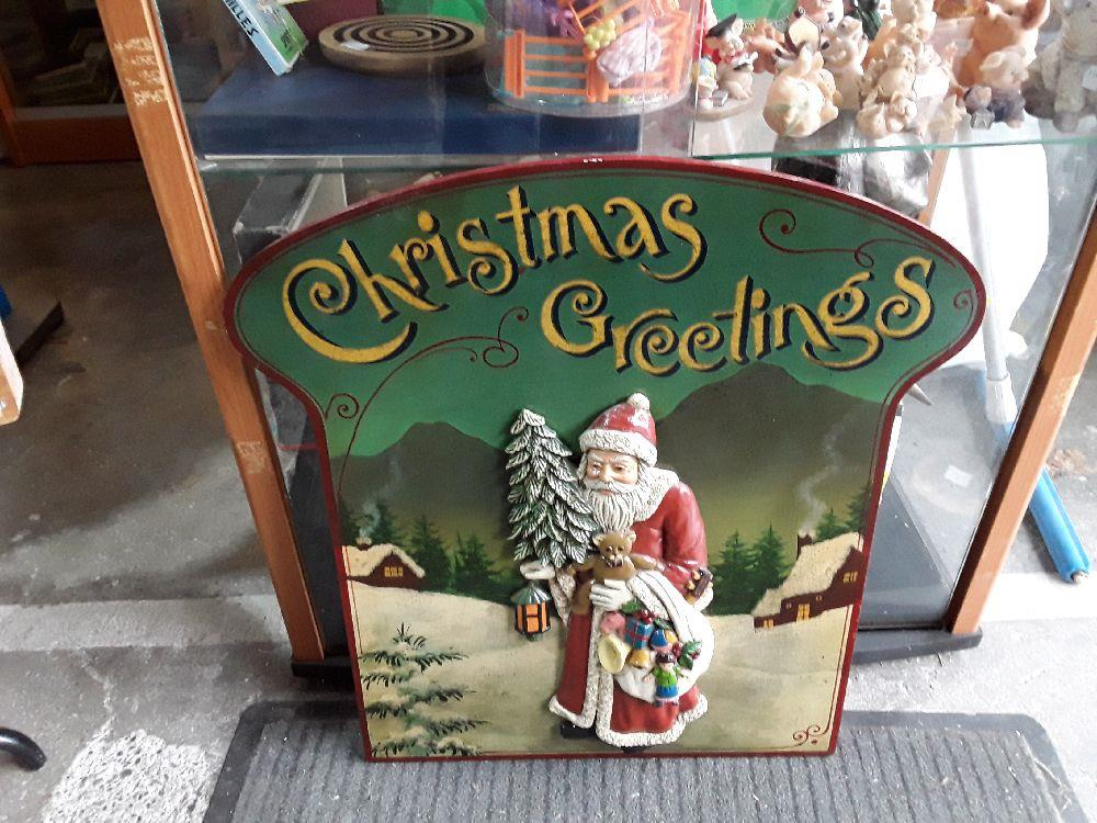 Cadre Deco Relief Christmas Creeting Contry Corner Occasion Troc