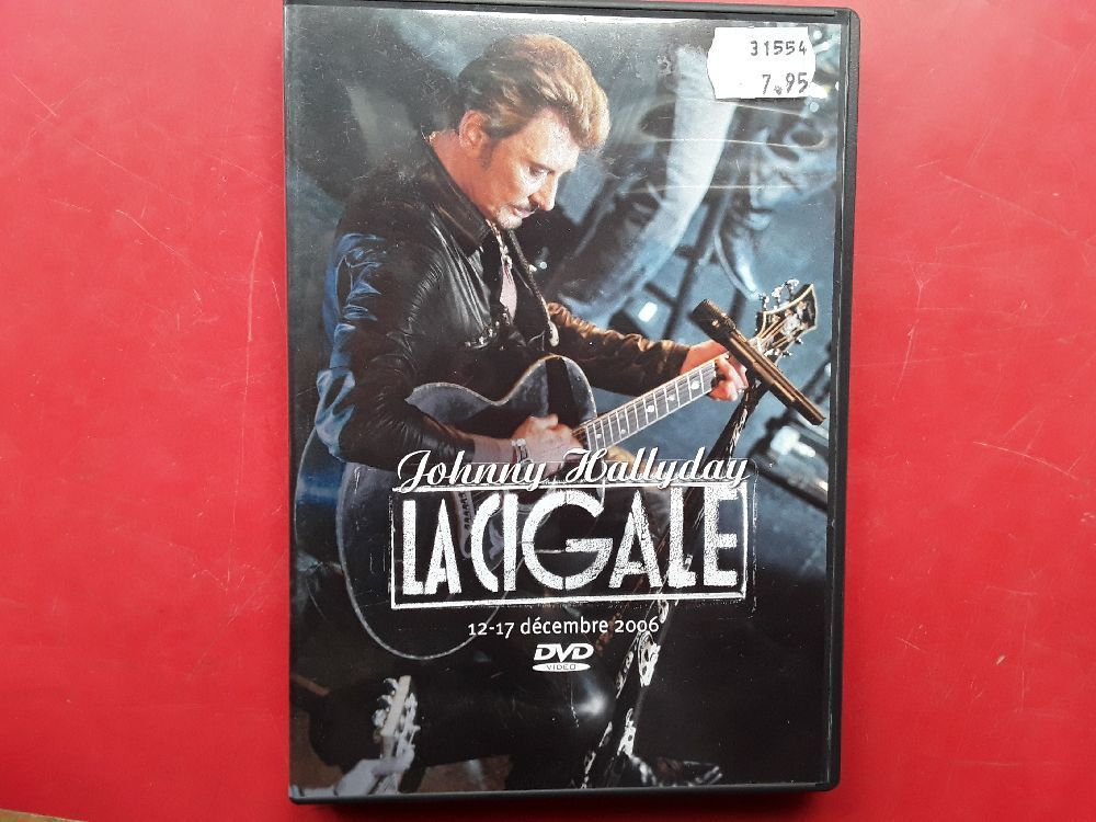 DVD JOHNNY HALLYDAY LA CIGALE 12-17 DÉCEMBRE 2006