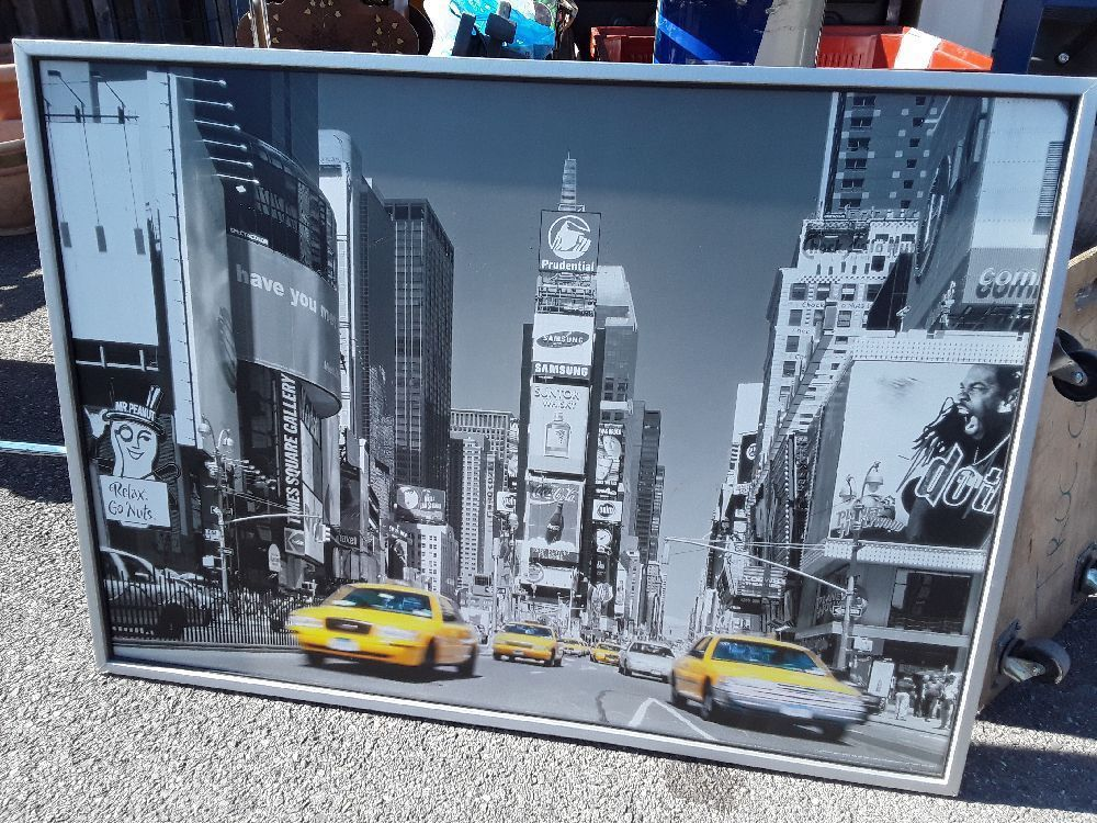 Cadre Deco 141x102 Affiche New York Ny Usa Taxis Jaunes Occasion