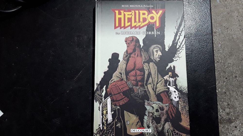 HELLBOY INTEGRALE PAR RICHARD CORBEN COMICS DELCOURT 9782413017417