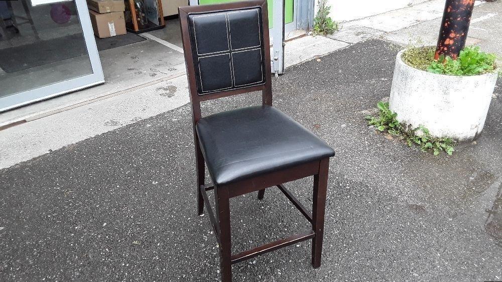 Cm Bar Surpiquage Chaise Noir Blanc Occasion H 62 Cuir De Simili kwOPZlXiuT