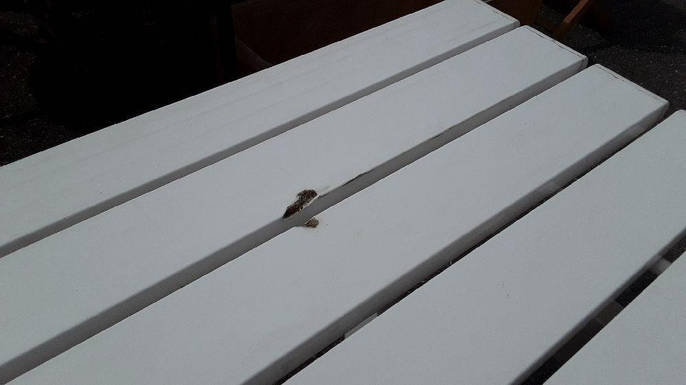 TABLE DE JARDIN 90X200 GROSFILLEX BOUTIQUE BLANCHE PLIABLE ...