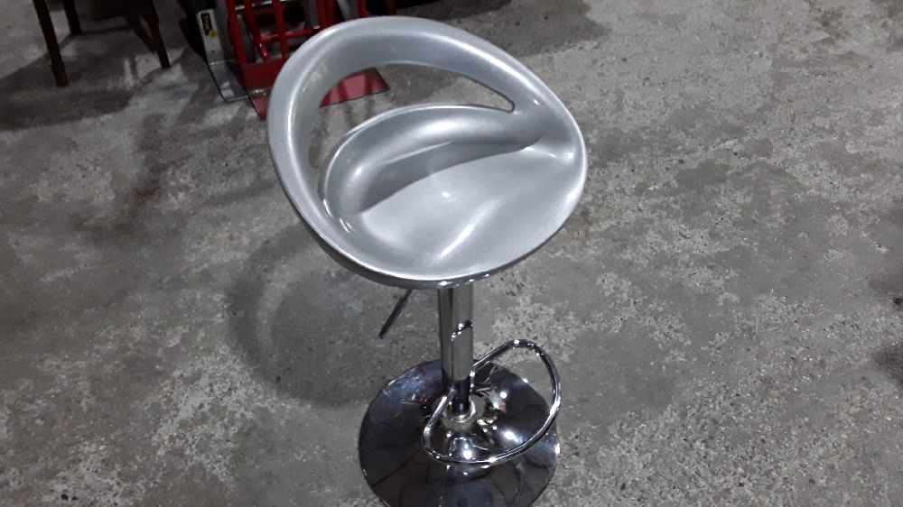 TABOURET DE BAR REGLABLE DESIGN GRIS