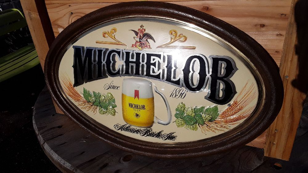ENSEIGNE MICHELOB BEER ANHEUSER BUSCH USA OVAL 60X37