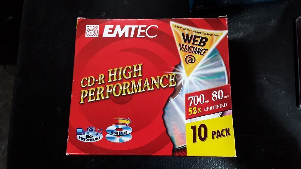 LOT DE 12 EMTEC CD-R 700MB 80MIN 52X