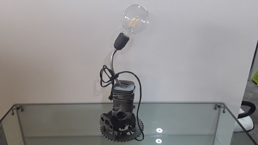 LAMPE DECO INDUSTRIELLE CARBU LED