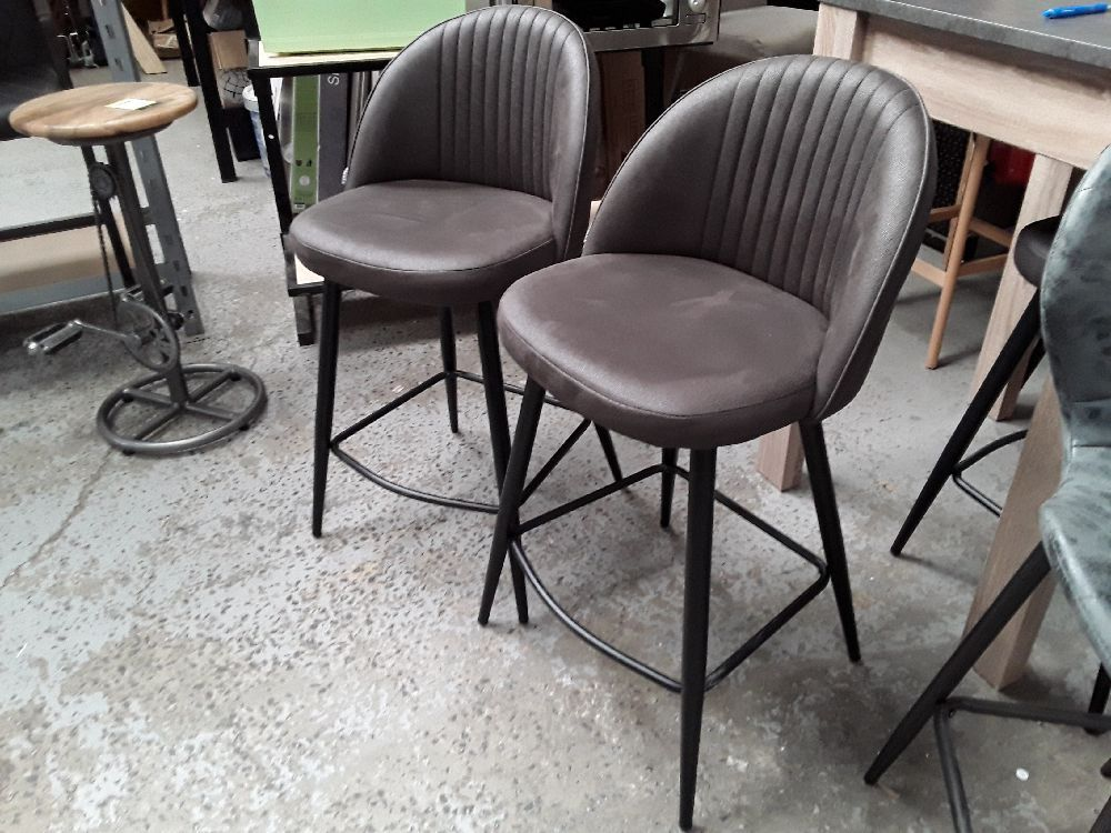 TABOURET DE BAR ENZO ANTHRACITE