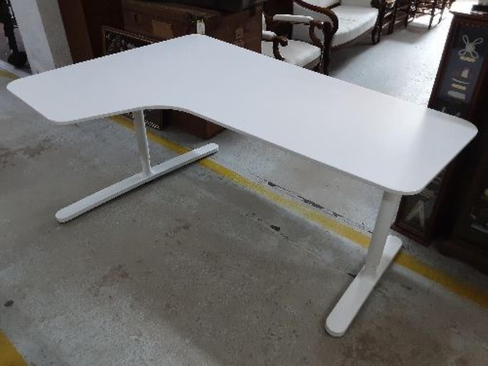 Bureau D Angle Blanc Ikea Occasion Le Hangar 40