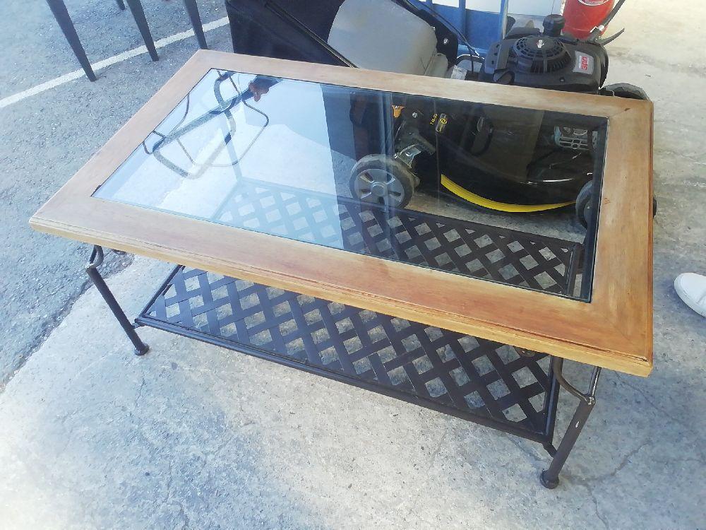 Admirable TABLE BASSE BOIS VERRE occasion - Ô dépôt insolite GV-21