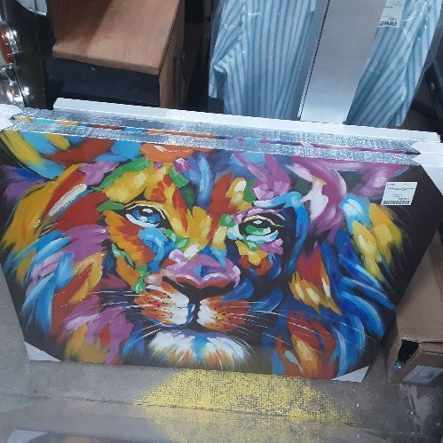 TABLEAU LION MULTICOLORE 100*80 GALLERY